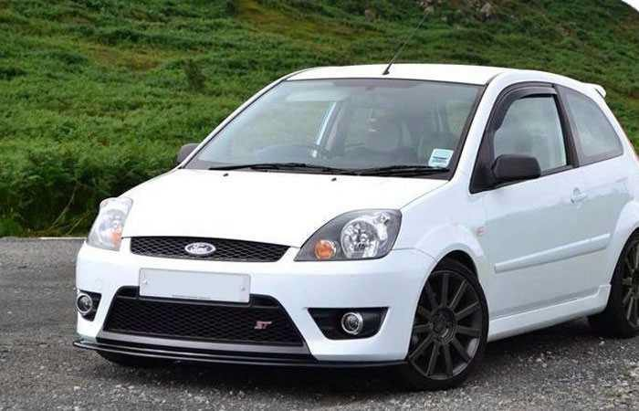 ford fiesta st150 mk6 front splitter scc performance. Black Bedroom Furniture Sets. Home Design Ideas